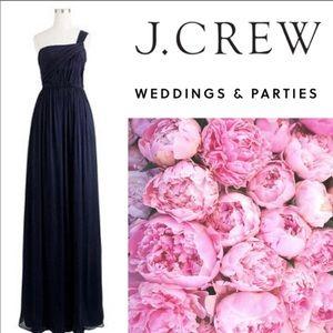 🆕 J.Crew Lucienne One Shoulder Long Dress 💙